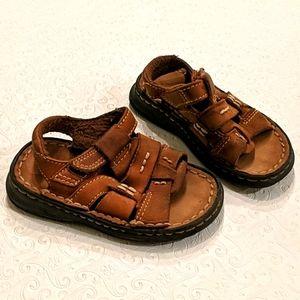 Brown boy sandal
